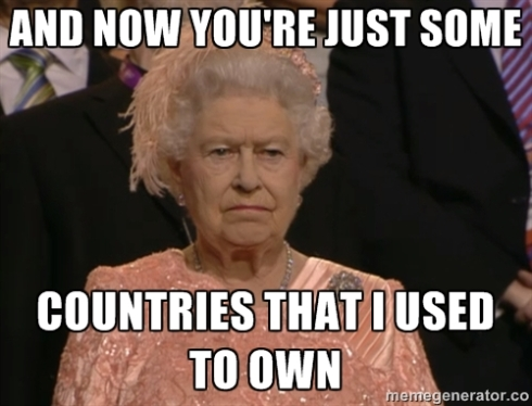 Queen of England meme